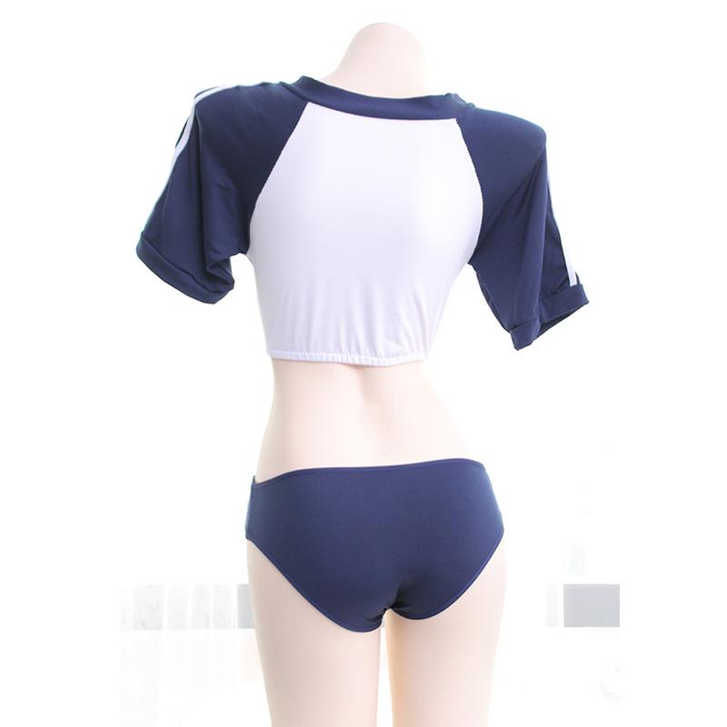 日系学生装cosolay分体水手服性感短款体操服制服套装-美咻咻商城