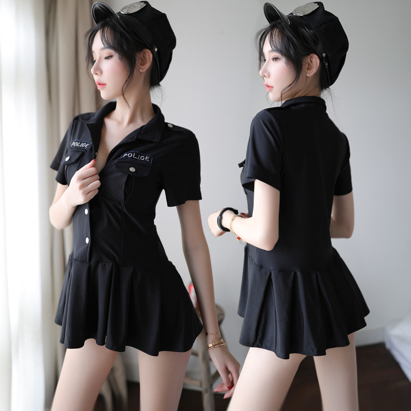 柠檬物语 性感短裙空姐警察制服三点式激情套装-美咻咻商城