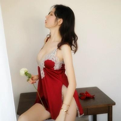 柠檬物语 情趣性感夫妻激情诱惑睡裙蕾丝小胸睡衣-美咻咻商城