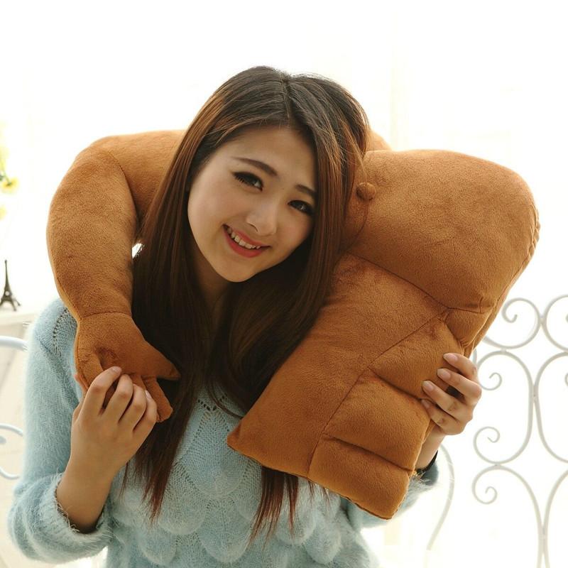 创意男朋友手臂造型肌肉男毛绒抱枕靠垫搞笑女生礼物午睡枕头-美咻咻商城