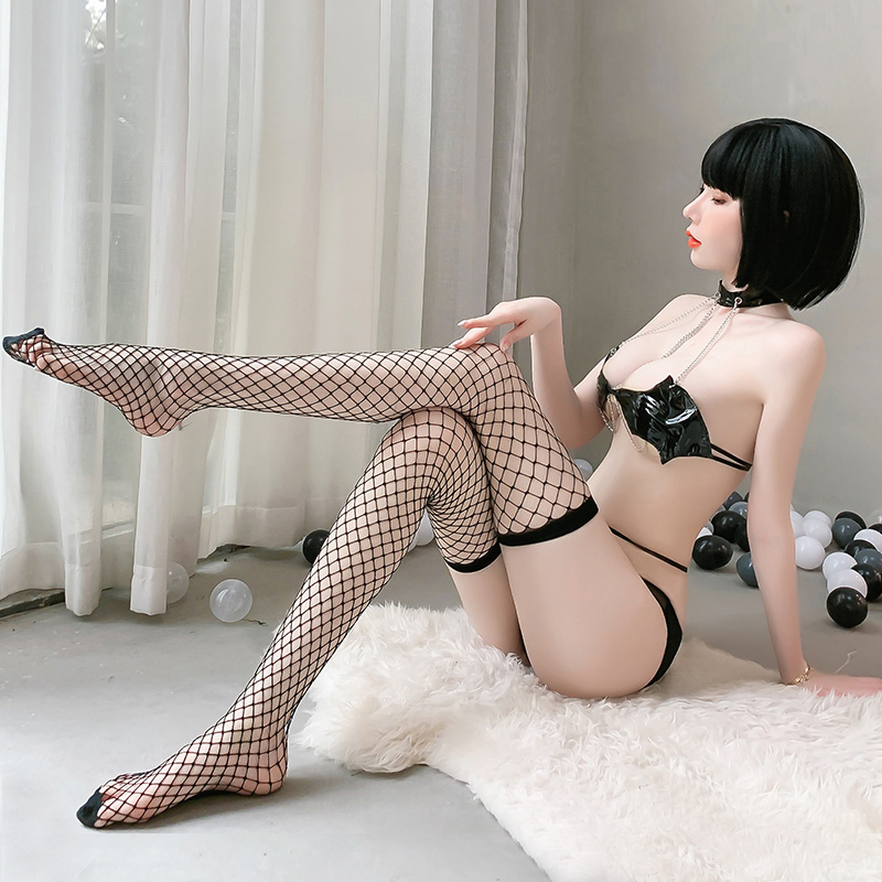 性感诱惑情趣内衣性感欧美工口小恶魔角色扮演链条三点式套装-美咻咻商城