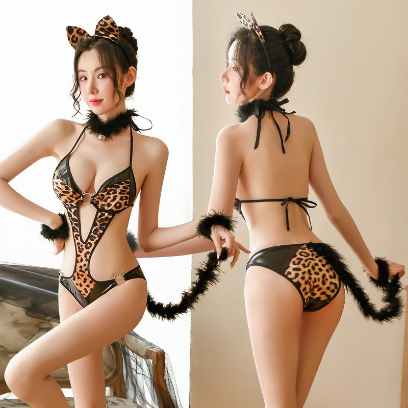 情趣内衣性感欧美迷情制服诱惑猫女郎连体衣角色扮演套装-美咻咻商城
