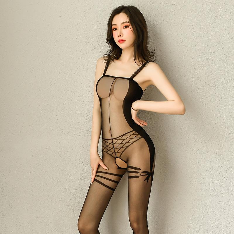 性感情趣内衣假式内裤开裆免脱透视连身情趣丝袜-美咻咻商城
