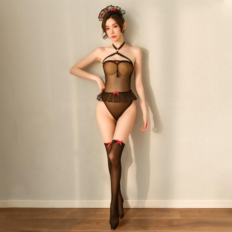 霏慕情趣内衣性感制服诱惑小护士情趣连体丝袜-美咻咻商城