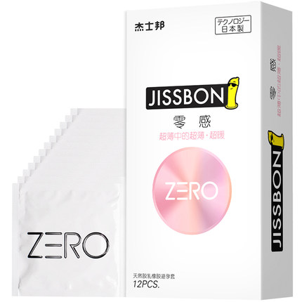 杰士邦 ZERO灵感超暖安全套12只装 -美咻咻情趣用品商城