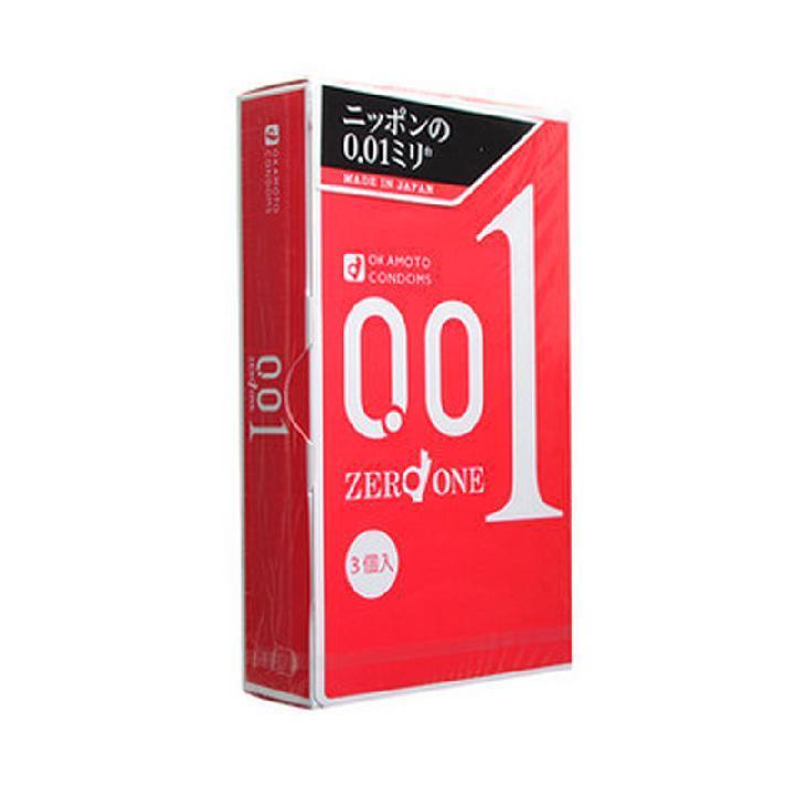 日本原装进口正品冈本001安全套超薄避孕套情趣型0.01大号 3只装-美咻咻商城