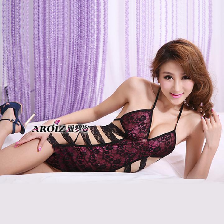 雅罗姿 紫媚天使紫红绷带连体衣-美咻咻商城
