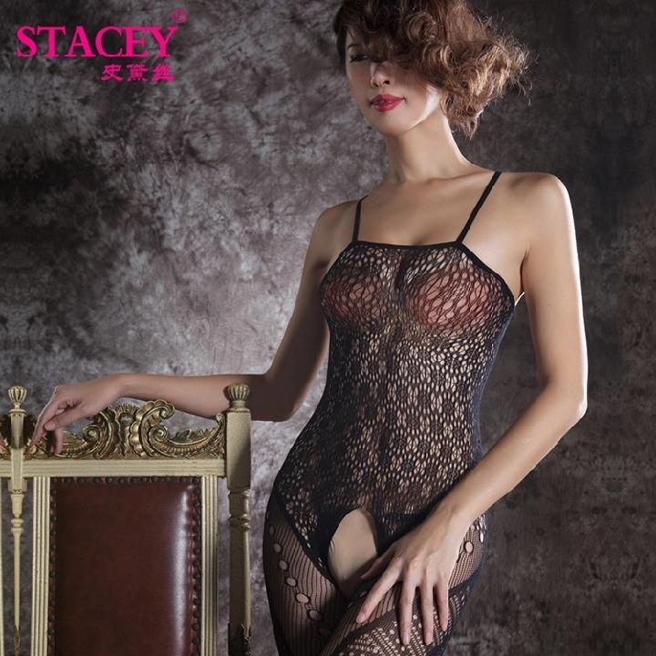 史黛丝 野性网纹吊带连体情趣内衣-美咻咻商城