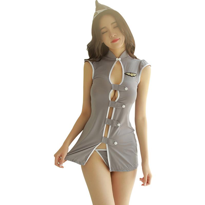霏慕 成人性感空姐制服诱惑角色扮演cosplay套装-美咻咻商城