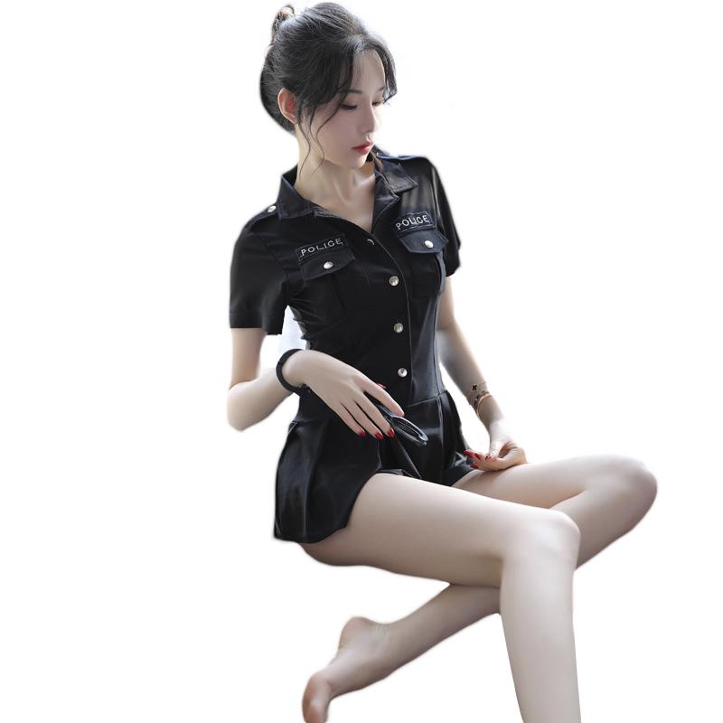 柠檬物语 性感短裙空姐警察制服三点式激情套装-美咻咻情趣用品商城