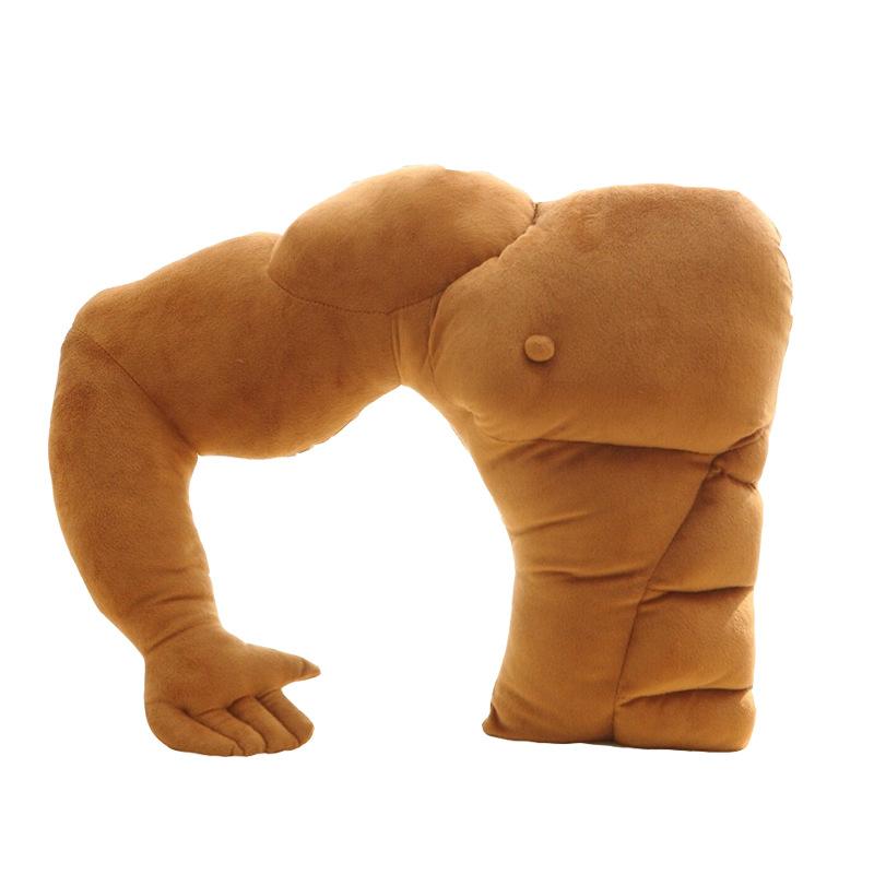 创意男朋友手臂造型肌肉男毛绒抱枕靠垫搞笑女生礼物午睡枕头-美咻咻情趣用品商城