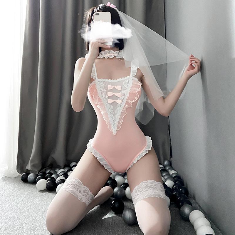 霏慕 成人女用情趣内衣二次元新娘连体衣套装(带丝袜)-美咻咻情趣用品商城