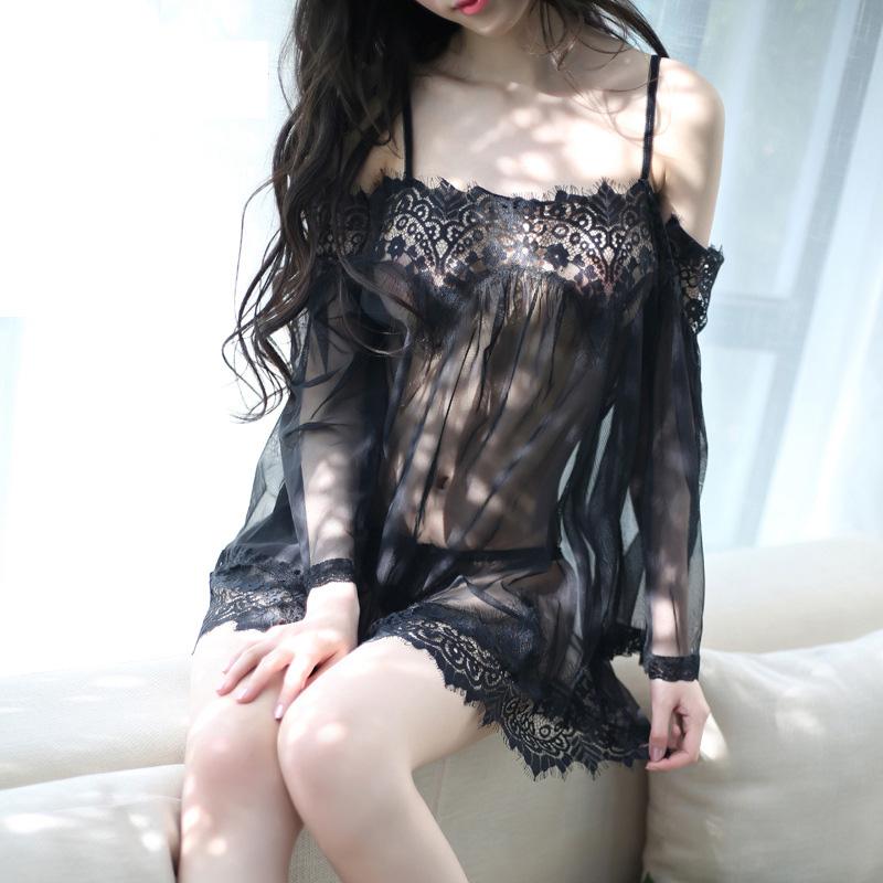柠檬物语性感睡衣蕾丝花边仙女裙火辣透视性感套装-美咻咻商城