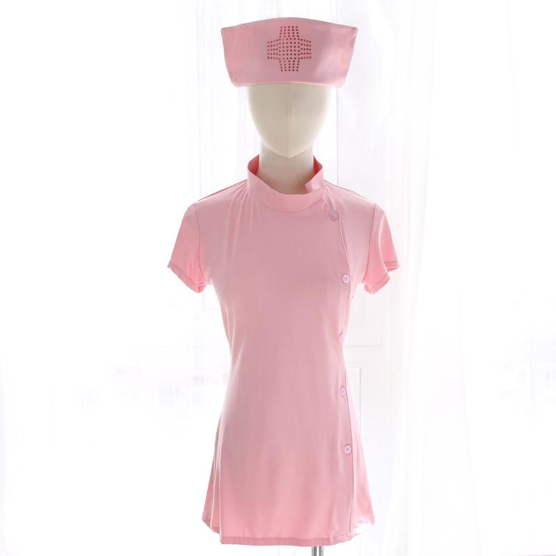 霏慕 角色扮演齐臀短裙甜心可爱性感女护士激情套装-美咻咻情趣用品商城