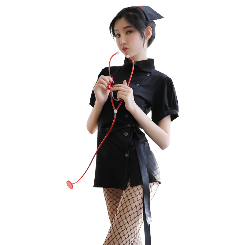 霏慕 暗黑系护士服制服短裙诱惑激情套装-美咻咻情趣用品商城